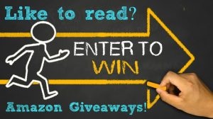 enter to win concept:running person and arrow